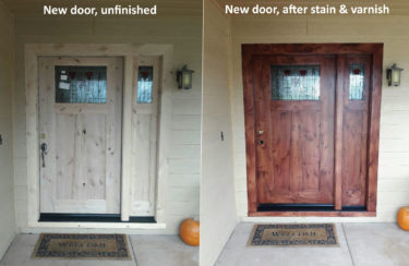 Front Door Finishing Makes a Great First Impression